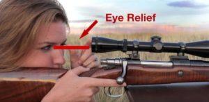 Long range scope eye relief