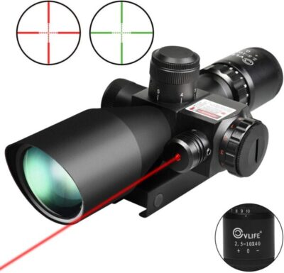 CVLIFE 2.5-10x40e Red & Green Illuminated Scope