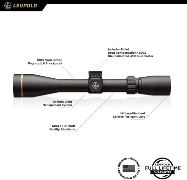 Leupold VX-Freedom 450 Bushmaster 3-9x40 Riflescope- Best scopes for 450 Bushmaster