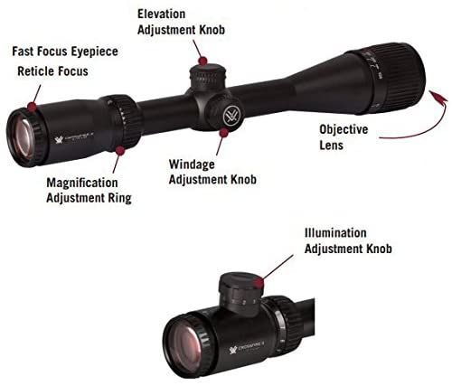 Vortex Optics Crossfire II Adjustable Objective, Second Focal Plane