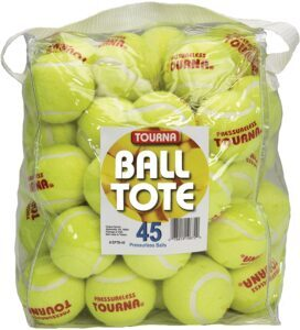 Tourna Pressureless Tennis Balls with Vinyl Tote