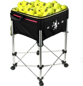 Bkisy Teaching Ball Cart 160 Capacity Tennis Ball Basket Hopper