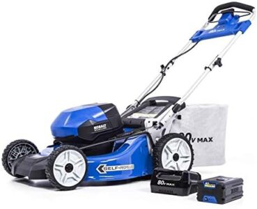 KT Kobalt 80-Volt Max Brushless Lithium Ion 21-in Self-propelled Cordless Electric Lawn Mower (