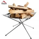 Portable Stainless Steel Folding Wood Stove