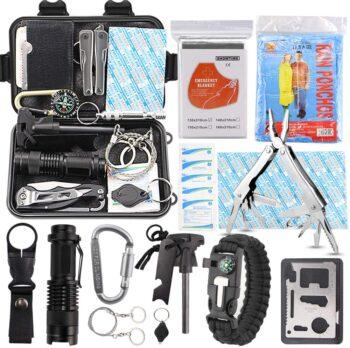 EMDMAK Survival Kit Outdoor Emergency Gear Kit for Camping Hiking Travelling or Adventures