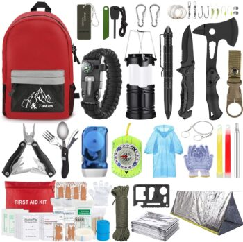 Emergency Survival Kit, 151 Pcs Survival Gear First Aid Kit