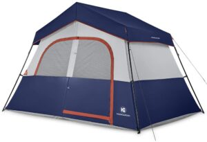 HIKERGARDEN Camping Tents - 6 Person Tent for Camping Waterproof, Windproof Fabric, Cabin Tent