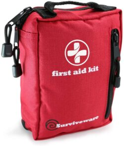 Surviveware Small First Aid Kit with Labelled Compartments