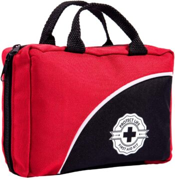 First Aid Kit - 160 Piece - for Car, Travel, Camping, Home, Office, Sports, Survival