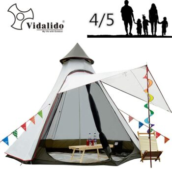 12'x10'x8'Dome Camping Tent 5-6 Person 4 Season Double Layers Waterproof Anti-UV Windproof Tents Family Outdoor Camping Tent