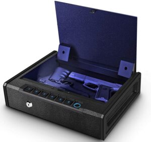 Biometric Gun Safe for Pistols, Quick Access