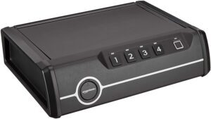 Amazon Basics Deluxe Quick-Access Firearm Safety Device with Biometric Fingerprint Lock