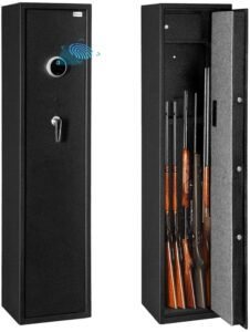 Bonnlo Biometric Rifle Safe, Fingerprint Rifle Gun Safe