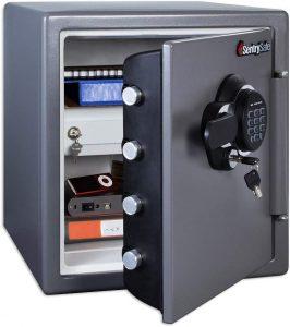 SentrySafe SFW123GDC Fireproof Safe- Best Fire Rated Gun Safe Under $500