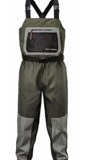 ) Dark Lighting Breathable Insulated Chest Waders- Best Waders for Cold Water